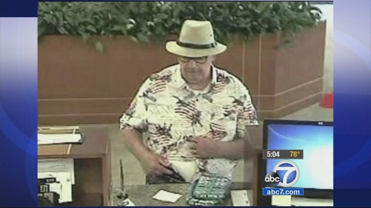 The so-called Snowbird Bandit, accused in a series of bank robberies in the South Orange County area, has been arrested.