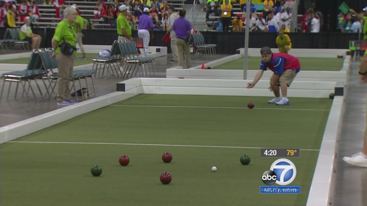 bocce ball athlete rolls his way to victory in special olympics