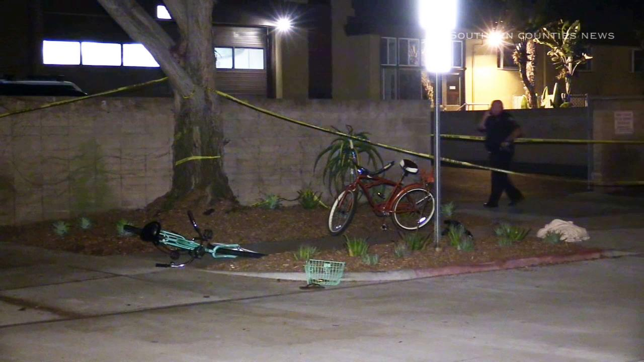 A 14-year-old girl riding her bicycle was critically injured after being struck by a hit-and-run driver in Newport Beach on Tuesday, Aug. 11, 2015.