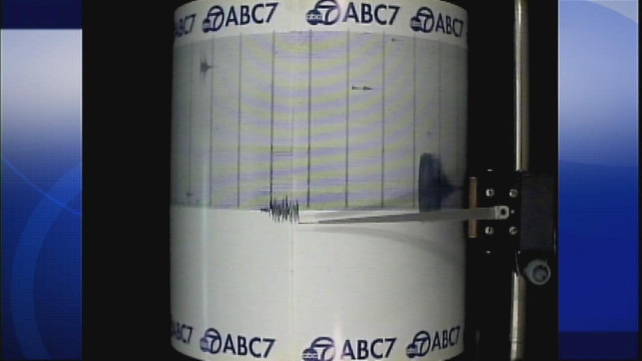 A powerful 8.3-magnitude earthquake struck off the coast of Chile on Wednesday night, and the quake registered on our ABC7 quake cam.