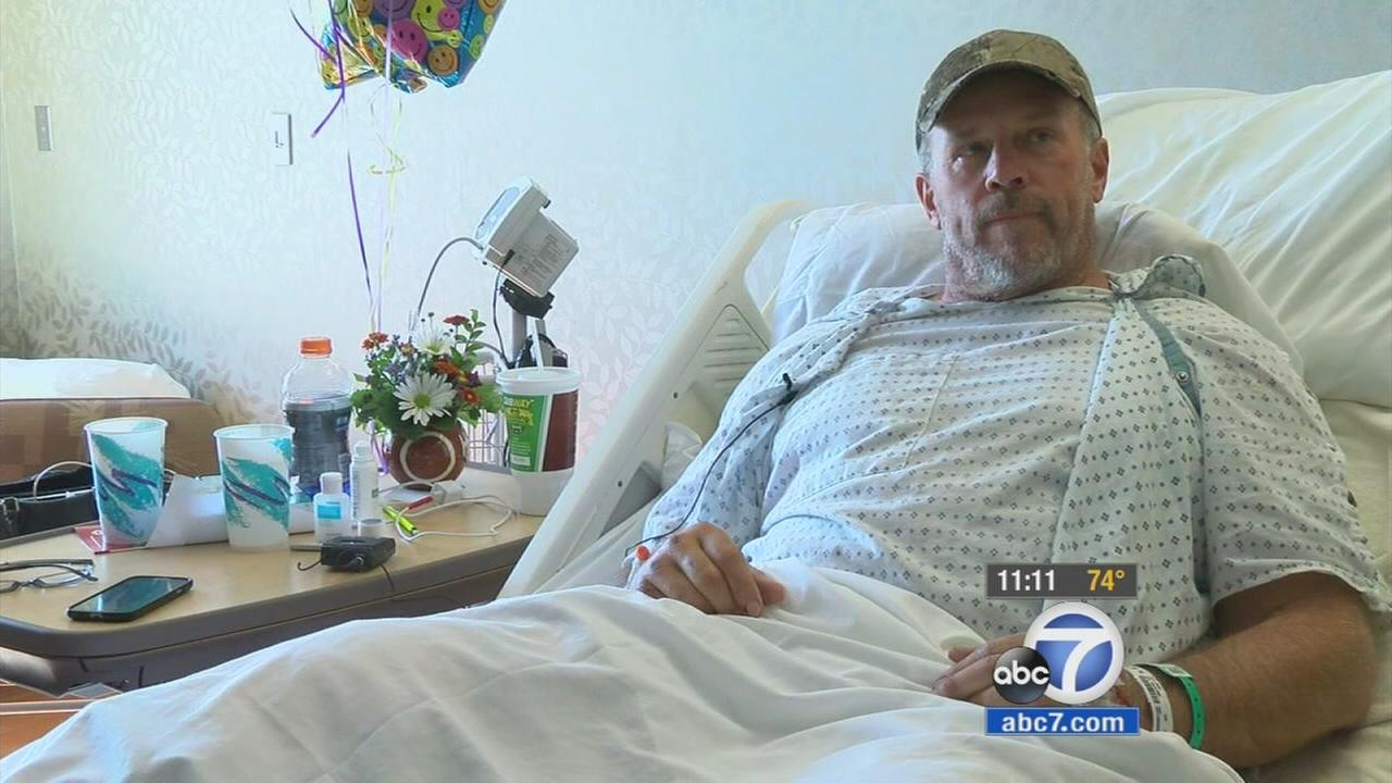 John Sain was stranded in the Idaho wilderness for three days after he broke his leg while on a hunting trip.