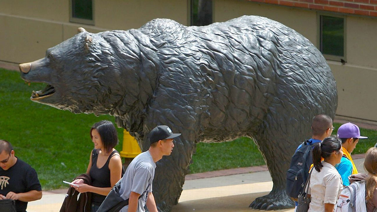 UCLAs Bruin Bear statue is seen in an undated file photo.