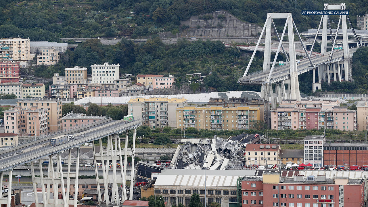Highway bridge collapses in Italy, death toll rises to 20 as cars plunge nearly 150 feet