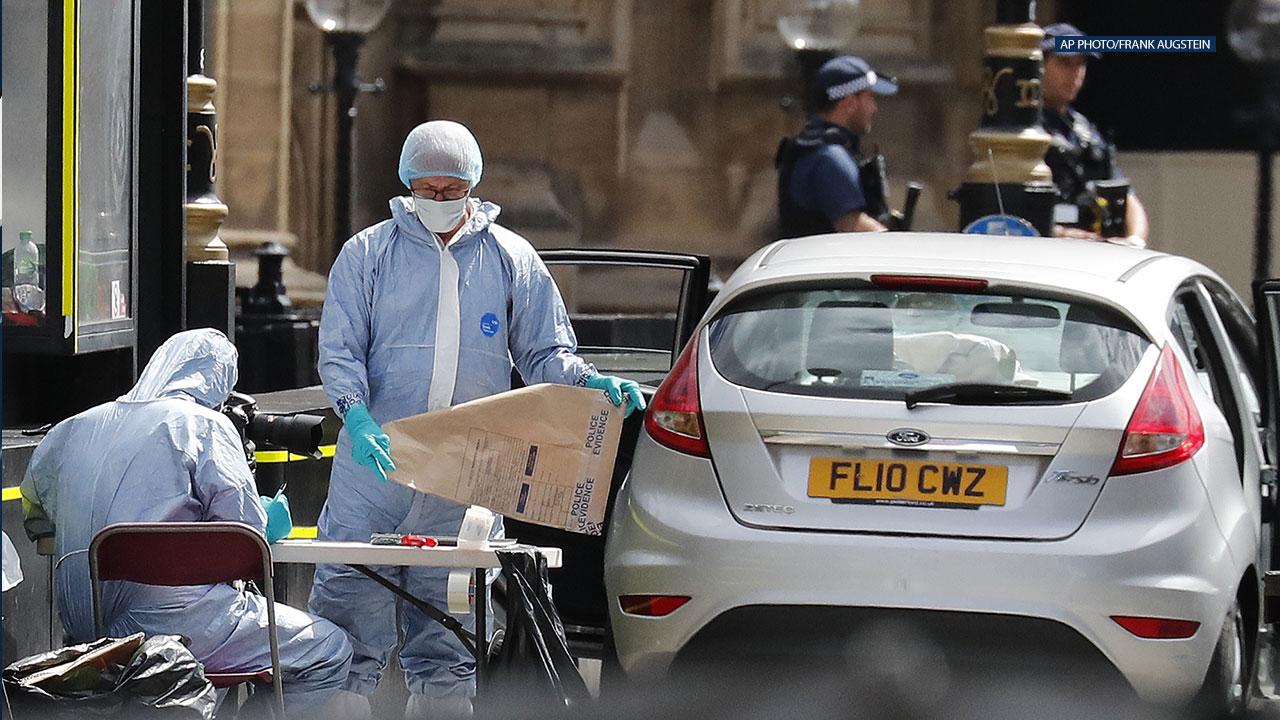 Car crashes into pedestrians in London, man arrested on suspicion of terrorism