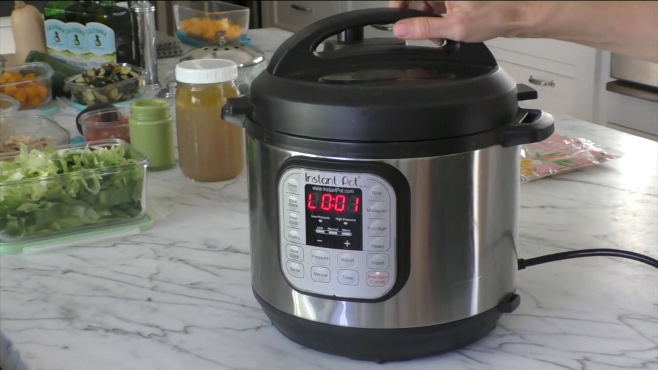 The Instant Pot sits on Pamela Salzmans counter top.