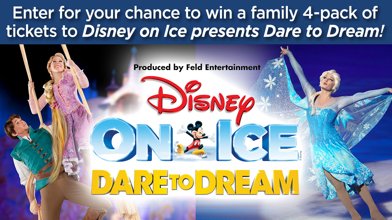 "ABC7 wants to give you a chance to win a family 4-pack of tickets to see Disney on Ice ""Dare to Dream!"""