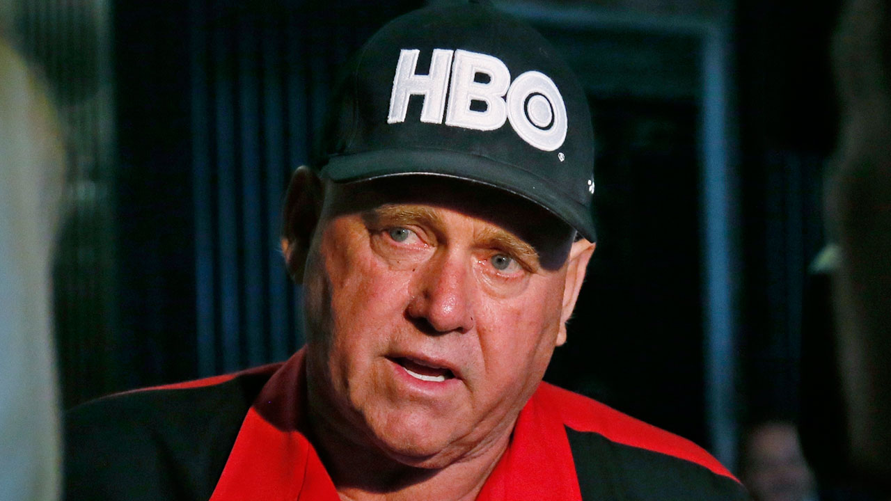 FILE - In this June 13, 2016, file photo, Dennis Hof, owner of the Moonlite BunnyRanch, a legal brothel near Carson City, Nevada, is pictured.