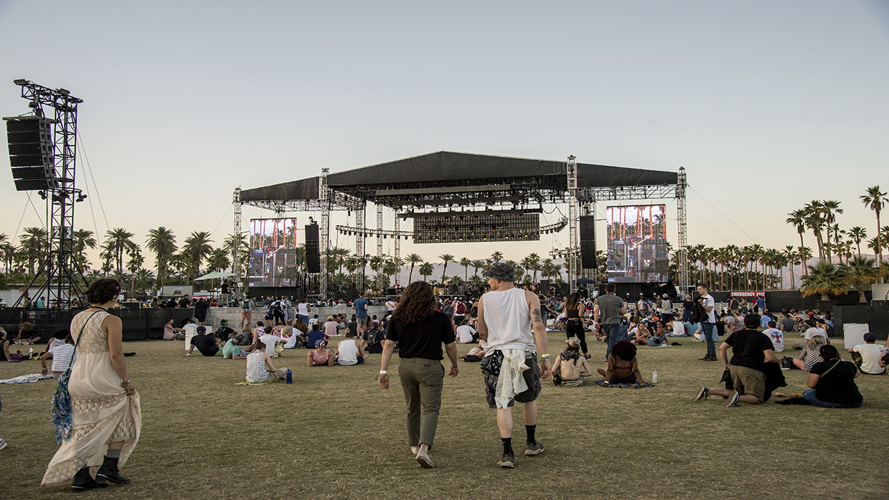 Festival goers attend the Coachella Music and Arts Festival at the Empire Polo Club on Sunday, April 22, 2018, in Indio, Calif.