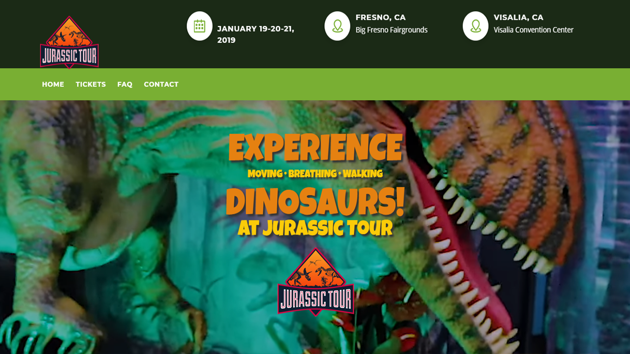 A huge dinosaur exhibit is about to be unveiled here in the Valley over the weekend!!