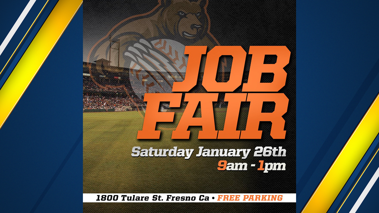 The Fresno Grizzlies have announced they will be hosting a job fair Saturday, January 26 at Chukchansi Park.