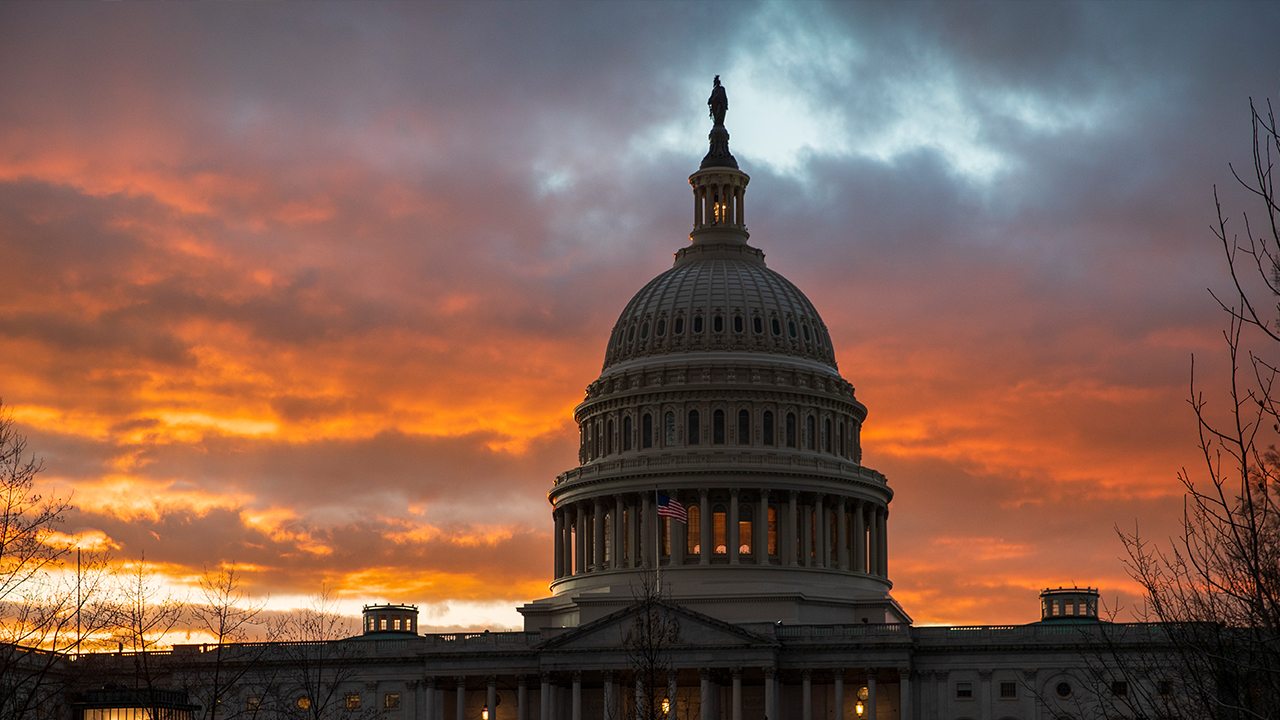 The Capitol at sunset after the Senate rejected competing Democratic and Republican proposals for ending the partial government shutdown. (AP Photo/J. Scott Applewhite)