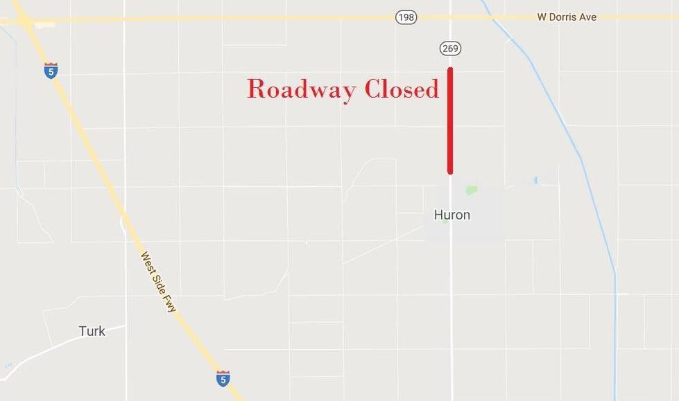 Part of Highway 269 closed, Caltrans reports