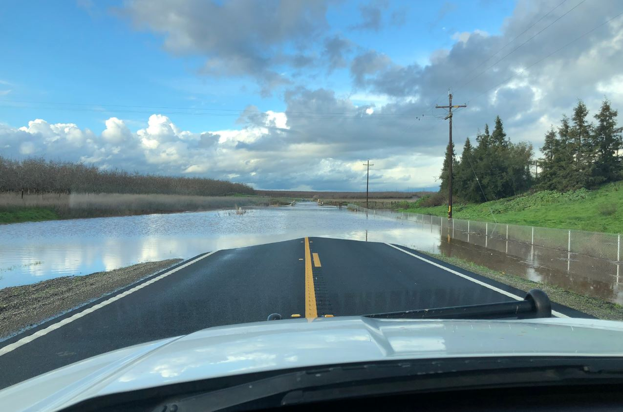 Highway 59 from Oakdale Road to Bellevue Road closed due to flooding