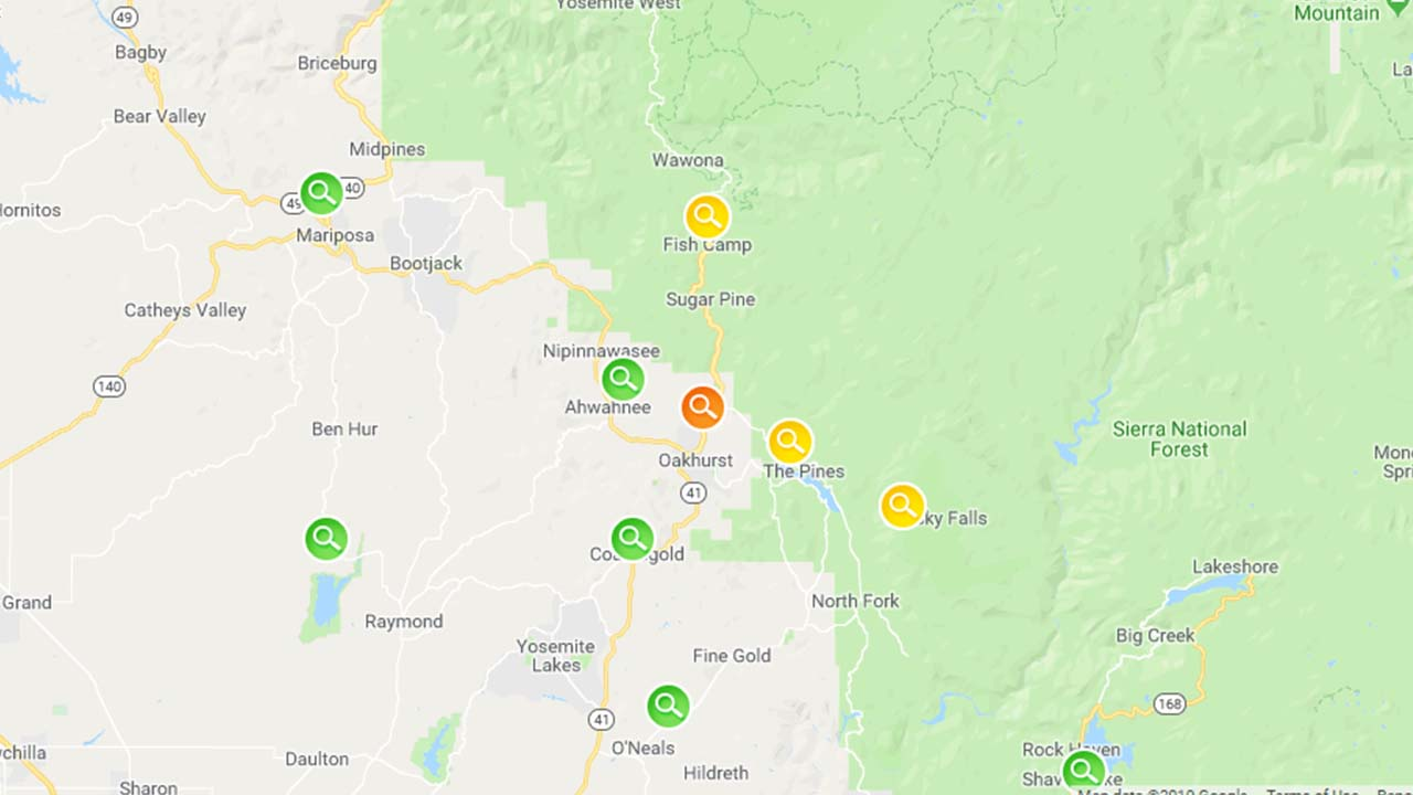 Thousands without power in several Central Valley mountain communities
