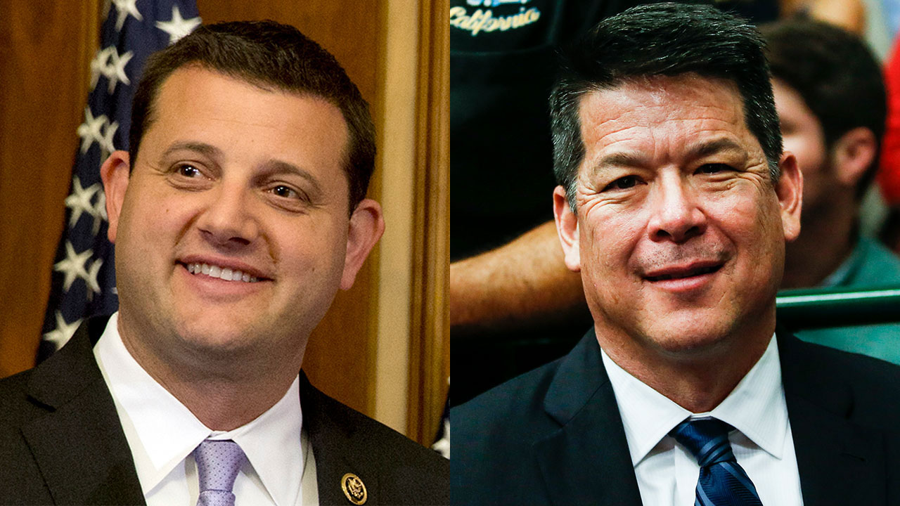 FILE - Rep. David Valadao (R-Hanford) and his 2018 Democratic challenger, TJ Cox