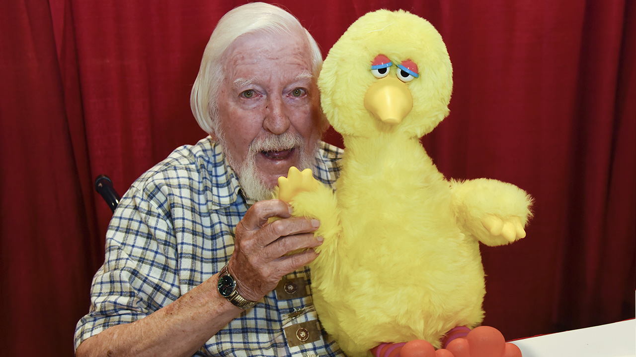 Caroll Spinney with Big Bird during Florida Supercon at the Broward County Convention Center on Friday, July 13, 2018 in Fort Lauderdale, Fla.