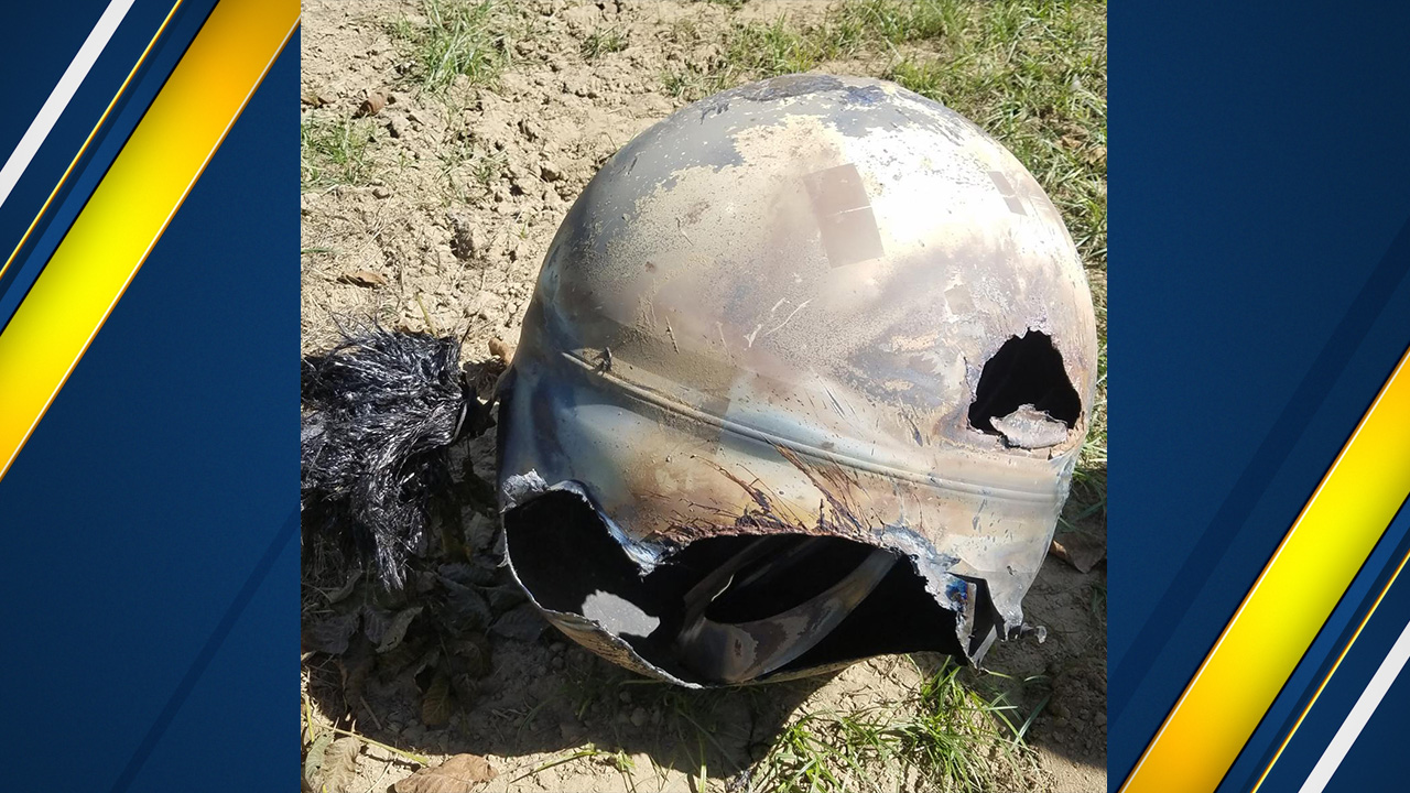 Space satellite fuel tank falls back into atmosphere, found in Hanford orchard
