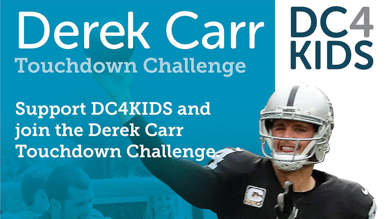 Join the Derek Carr Touchdown Challenge