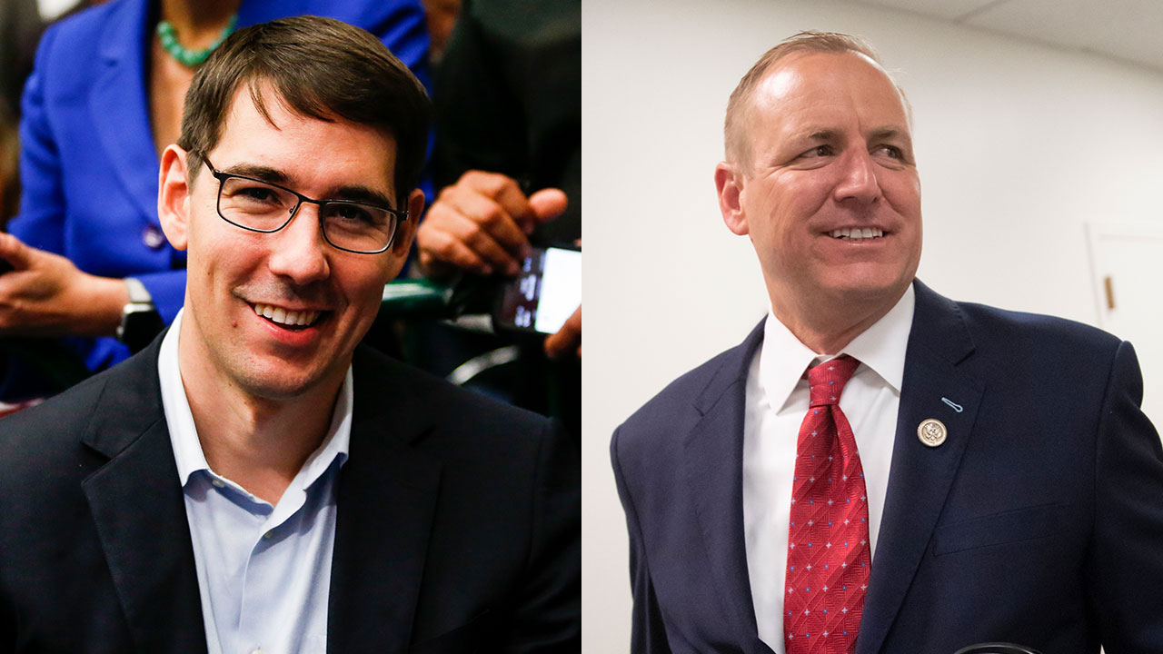 Josh Harder (D) and Rep. Jeff Denham, (R-Calif.)