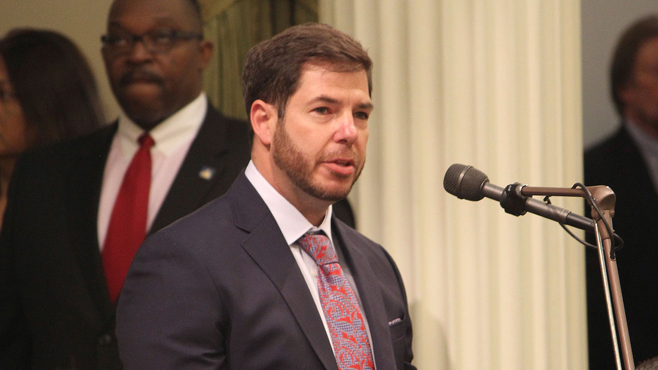 FILE -  Assemblyman Joaquin Arambula, (D-Fresno), speaks to fellow lawmakers on Thursday, April 14, 2016, in Sacramento, Calif.