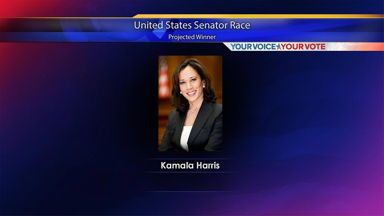 Kamala Harris wins US Senate seat