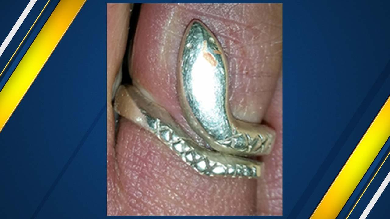 The victim was also wearing a distinctive ring that authorities hope will help identify her.