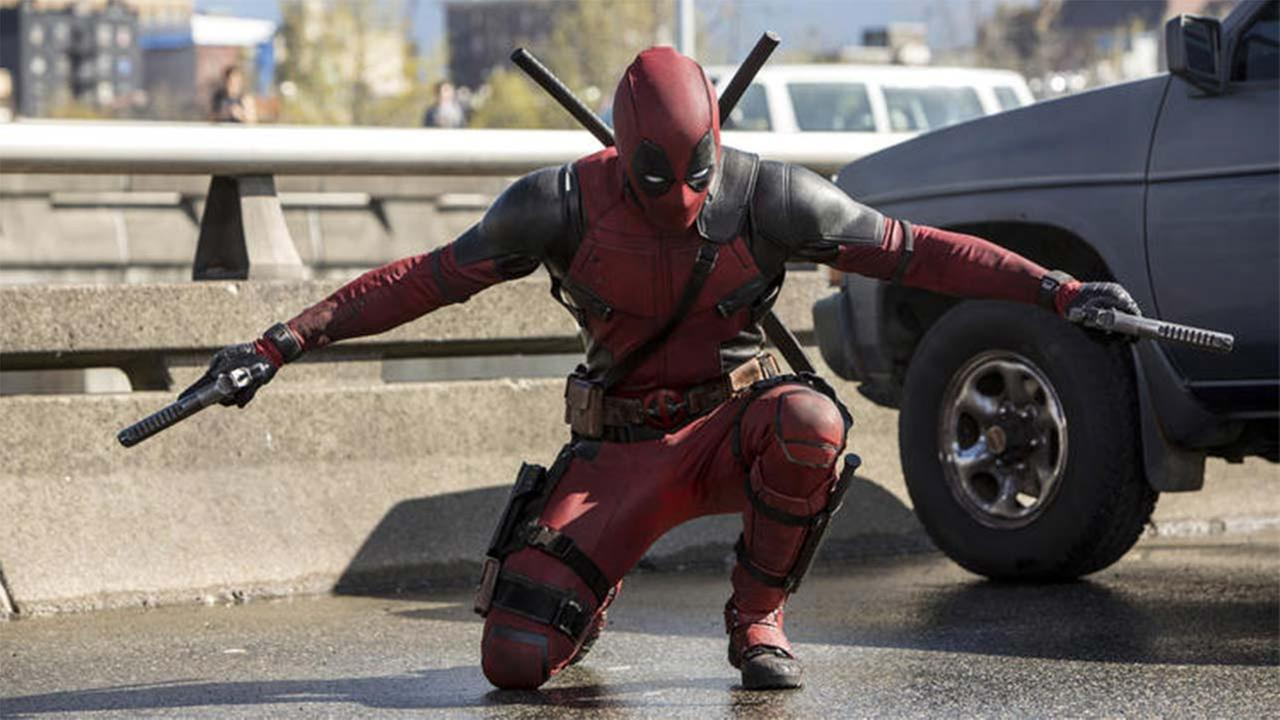 Ryan Reynolds is the wisecracking guy in red in the R-rated superhero movie Deadpool. (Joe Lederer / 20th Century Fox)