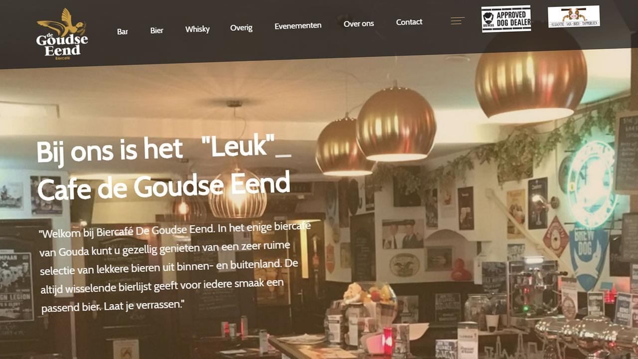 Screenshot of de Goudse Eend Cafe website