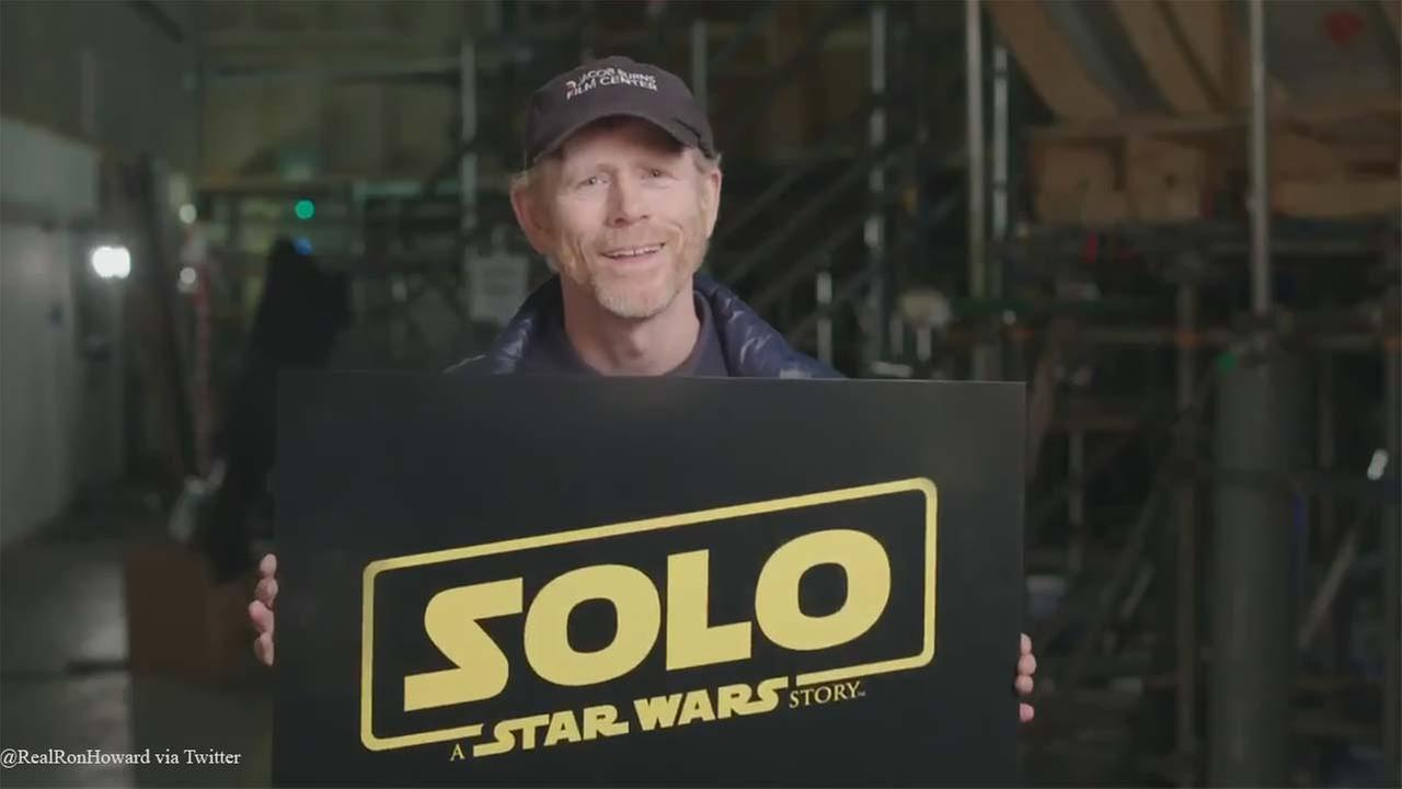 Director Ron Howard announced in a Twitter video Tuesday the official name of the new Hon Solo movie.