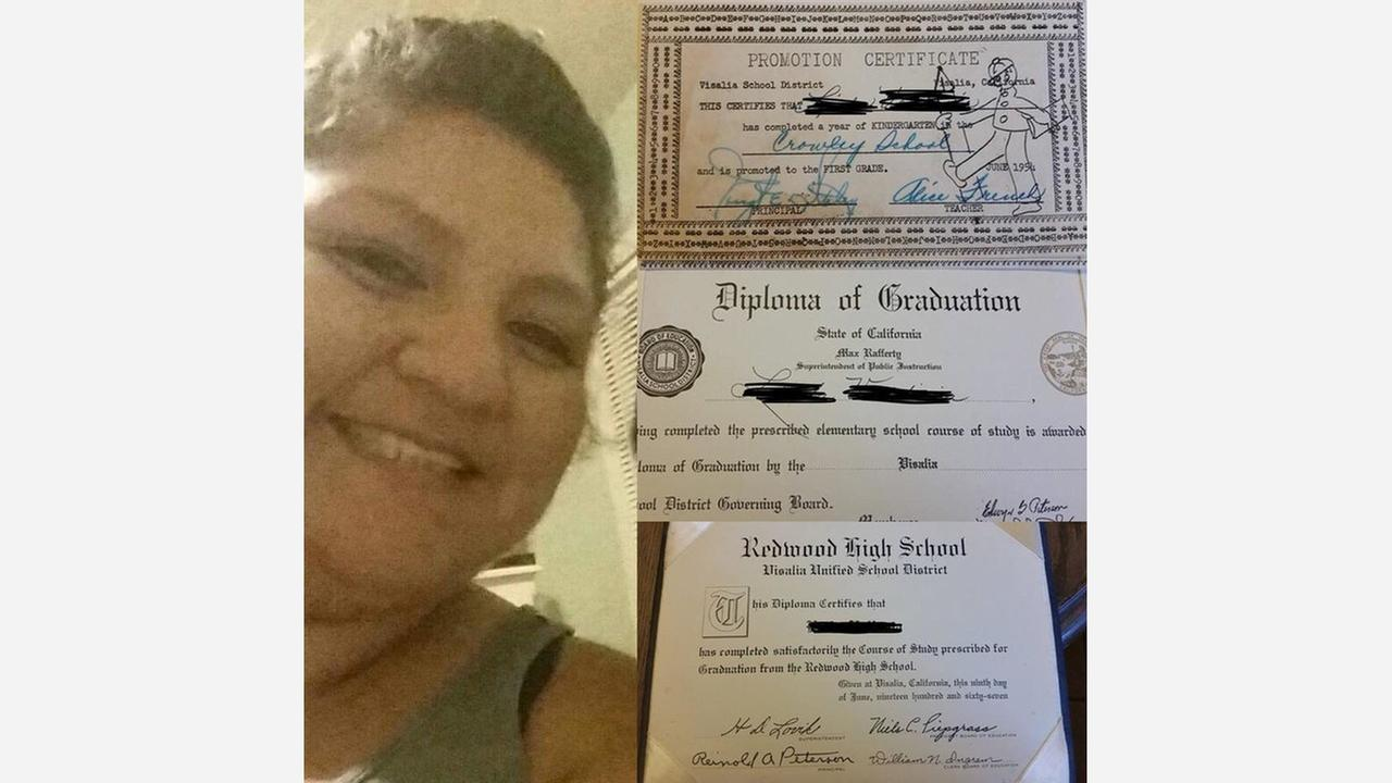 Lost diplomas found thanks to Tulare woman's efforts