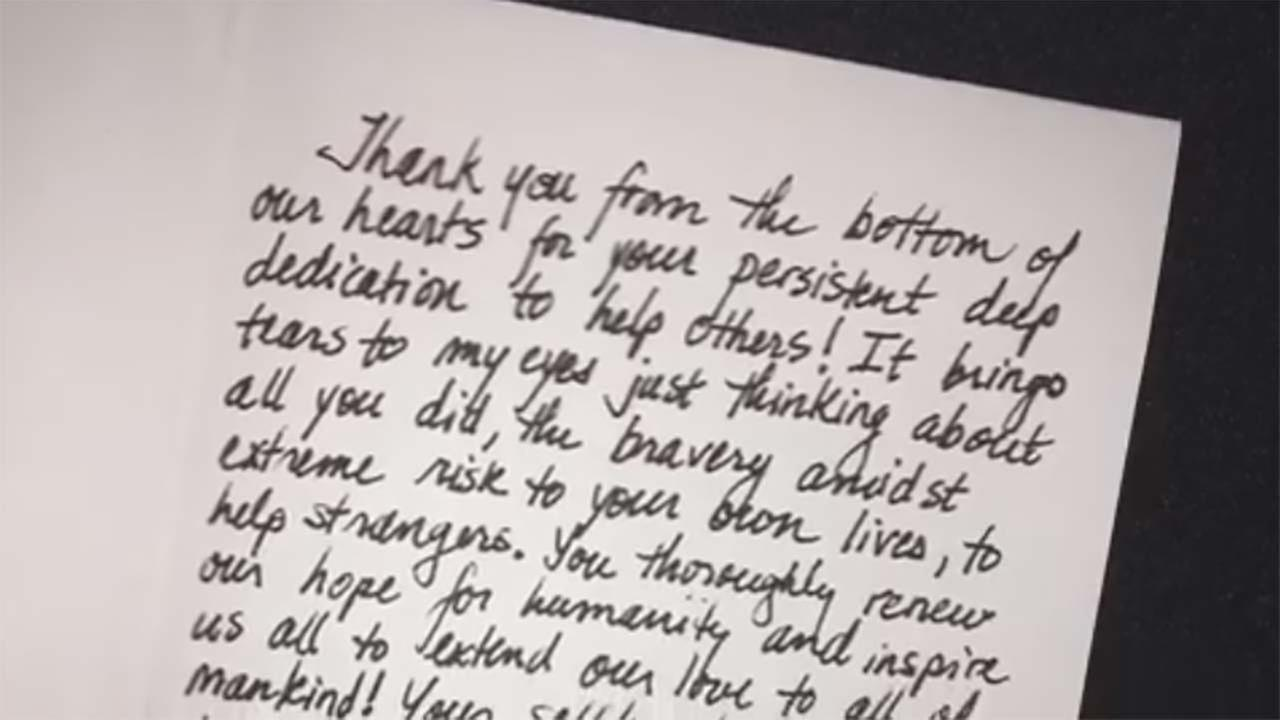 Tulare County Fire Department receive thank you letters from Santa Rosa residents