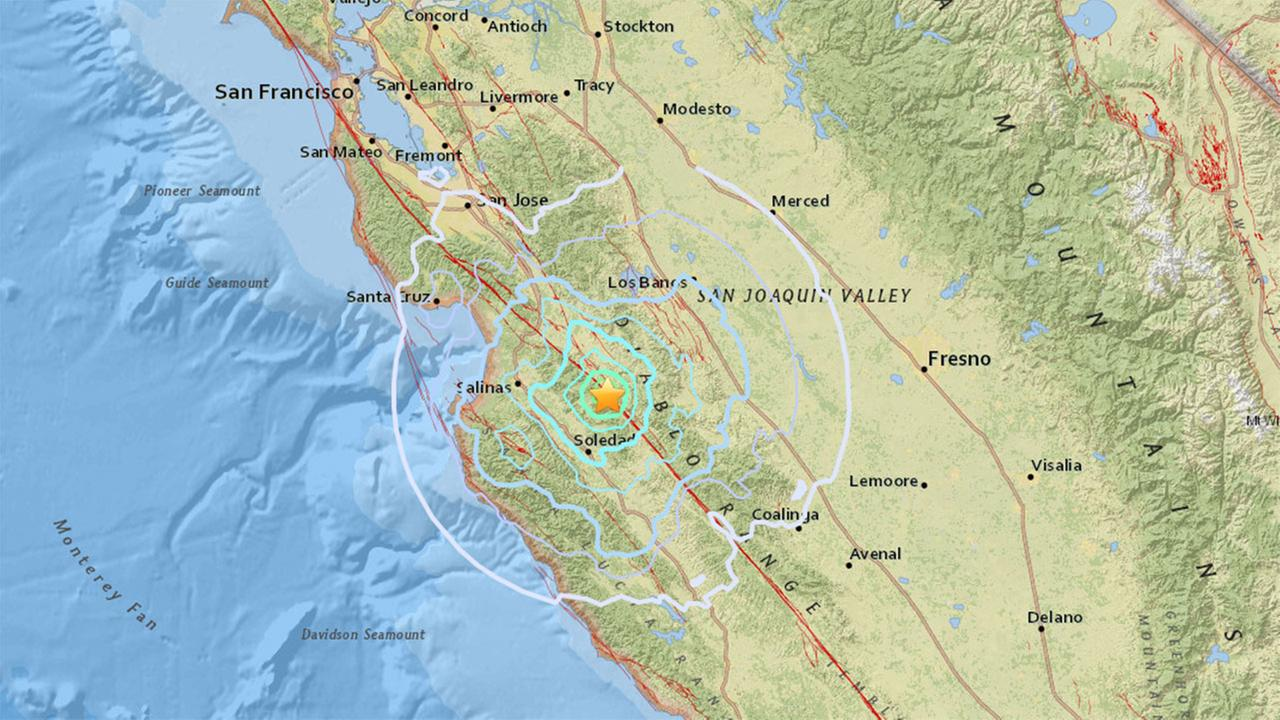 4.7 magnitude earthquake strikes near Salinas