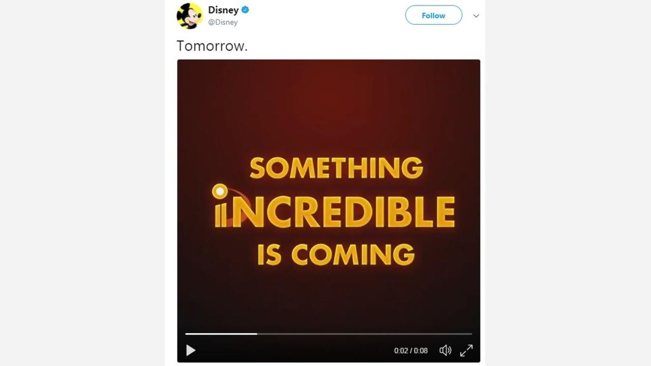 A short Disney tease for 'The Incredibles 2' trailer sparks huge reaction online