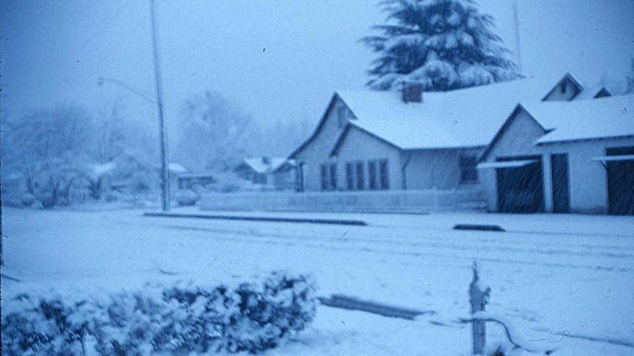 Do you remember the last time it snowed in Fresno?