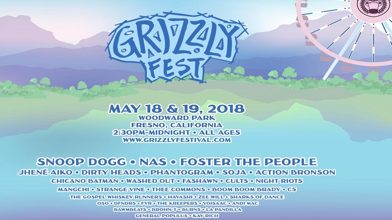 Snoop Dogg will headline 2018 Grizzly Fest at Woodward Park