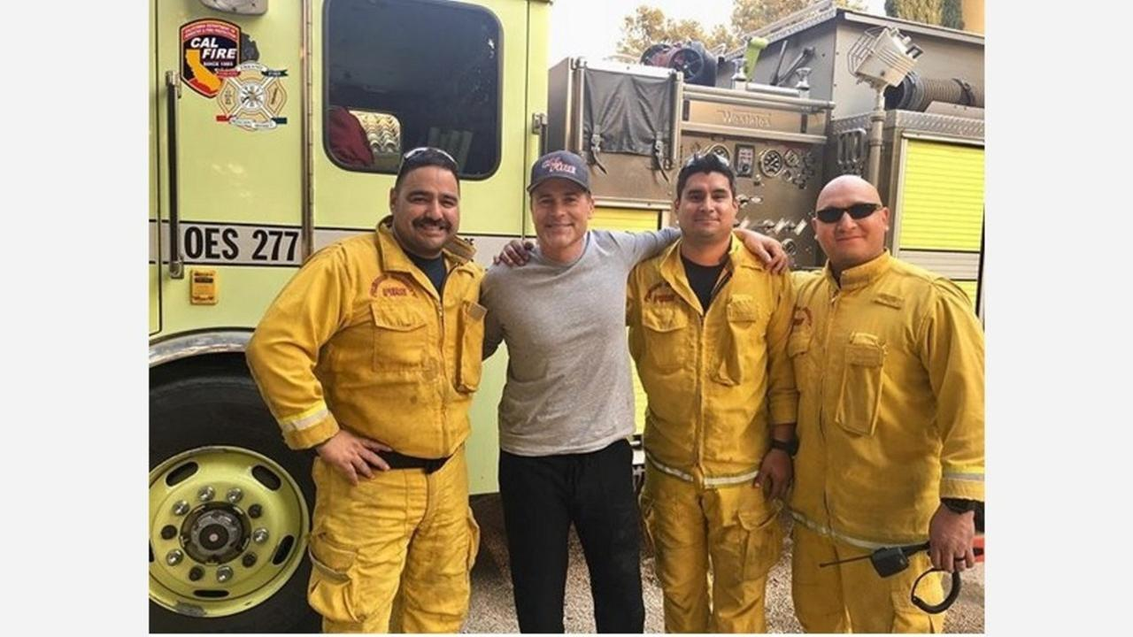 The 'Real' Rob Lowe gets to meet real Fresno County Firefighters