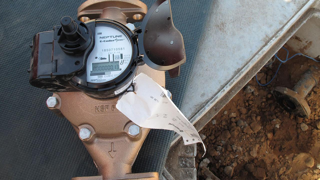 California drought water meters
