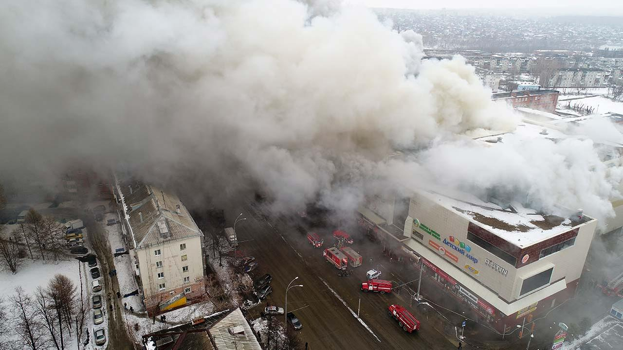 At least 48 dead and dozens missing, most of them children, after massive fire at Russian mall