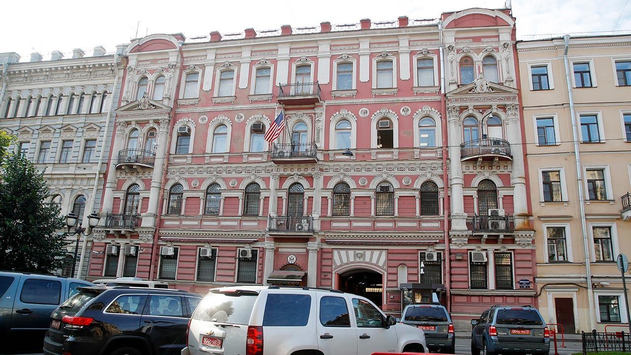 A view of the U.S. consulate in St. Petersburg, Russia