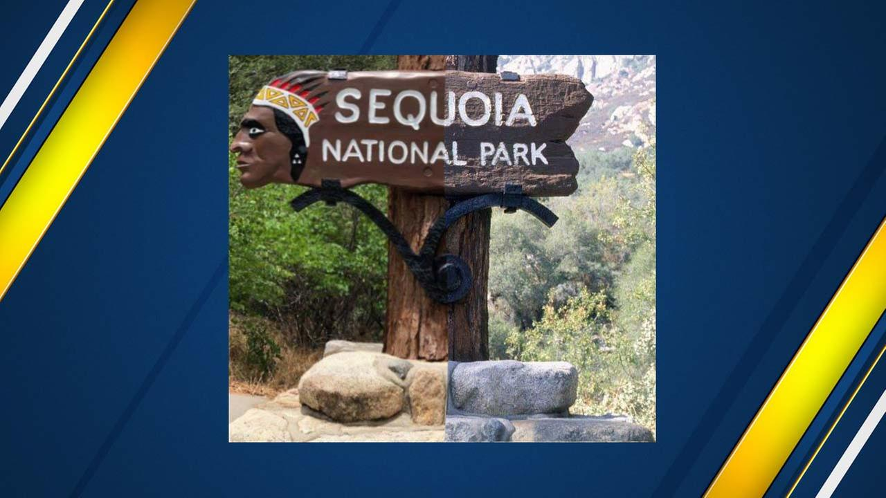 Yes, the Sequoia National Park sign did get some work done