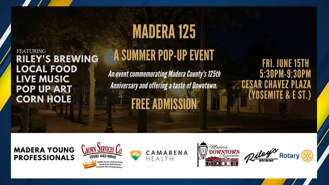 Free pop-up event bring music, food, and fun to Downtown Madera