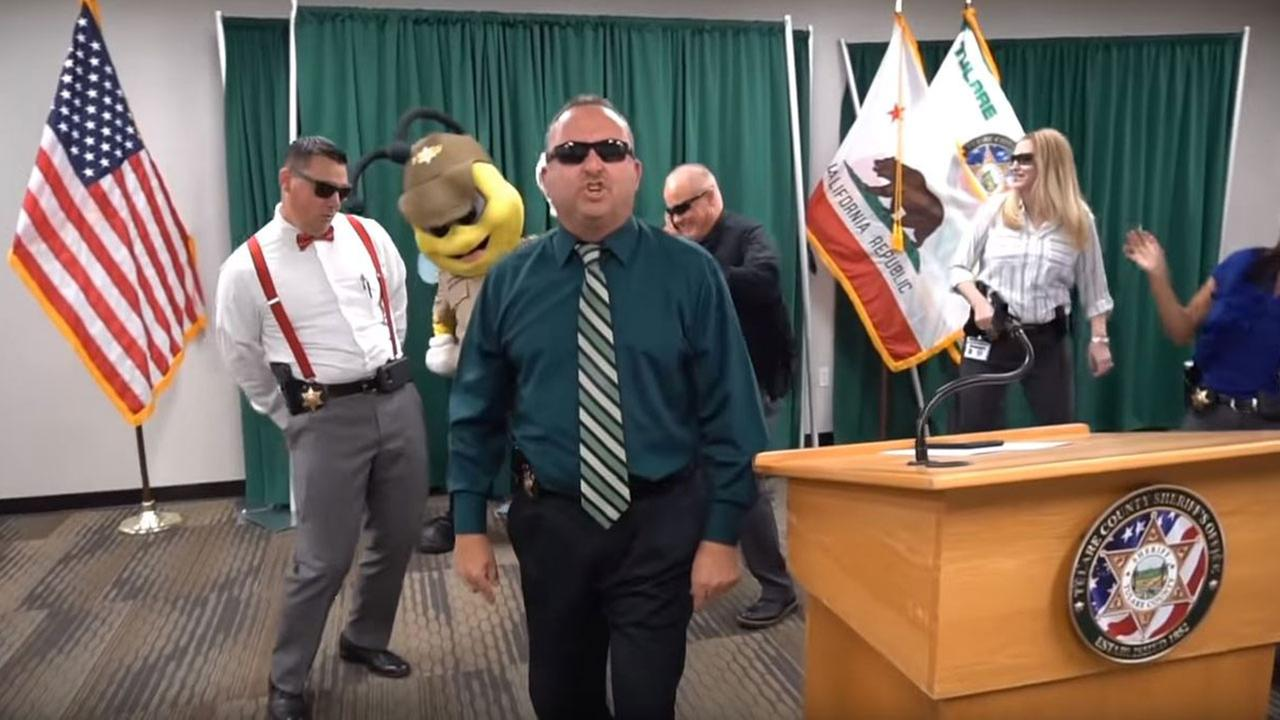 Tulare County Sheriff's Office take on lip sync battle challenge