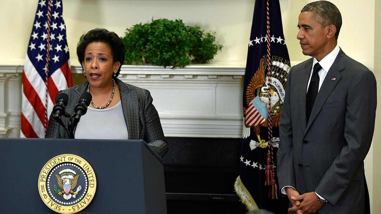 President Barack Obama and U.S. Attorney Loretta Lynch