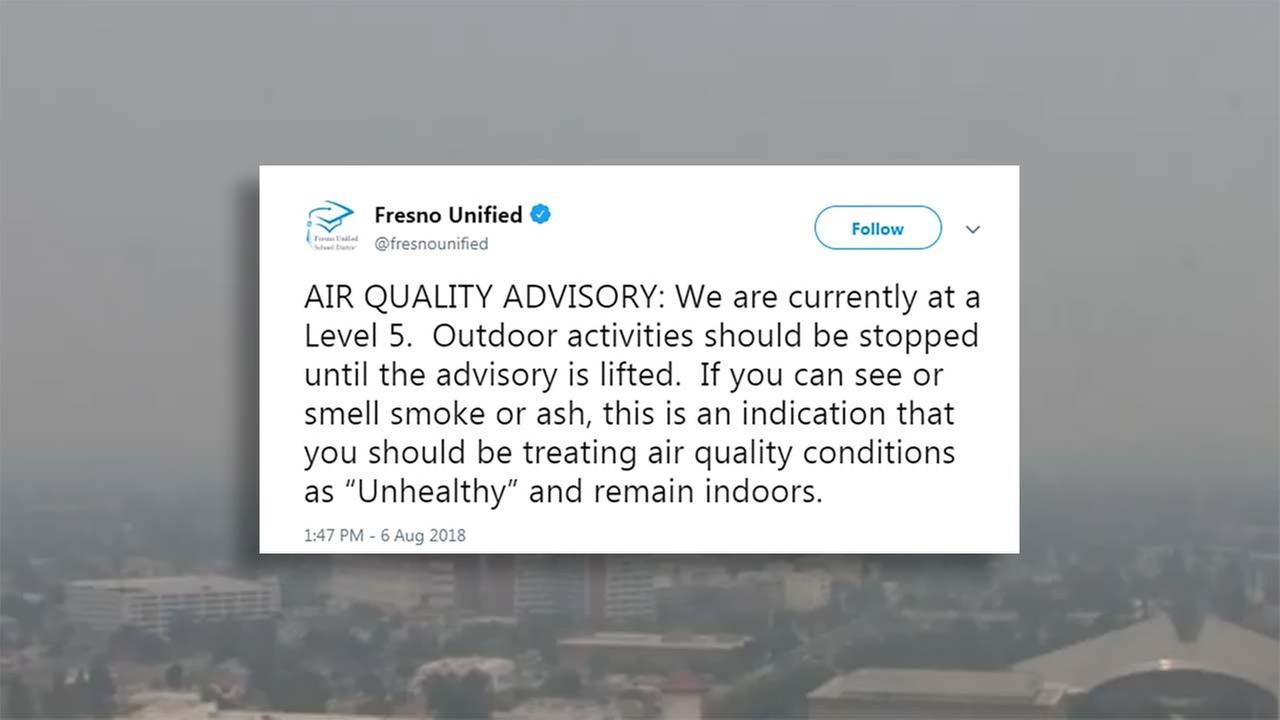 Fresno Unified stopping all outdoor activity due to air quality
