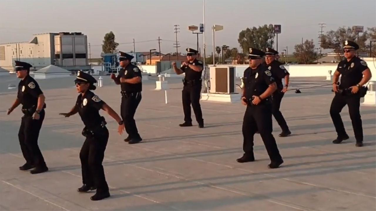 "Delano Police Department lip sync to popular cumbia song ""El Tao Tao"""