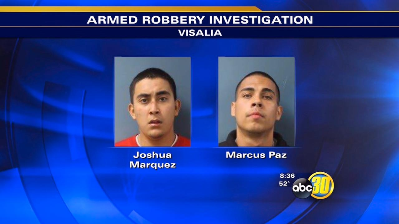 Accused Of Robbing Man In Visalia