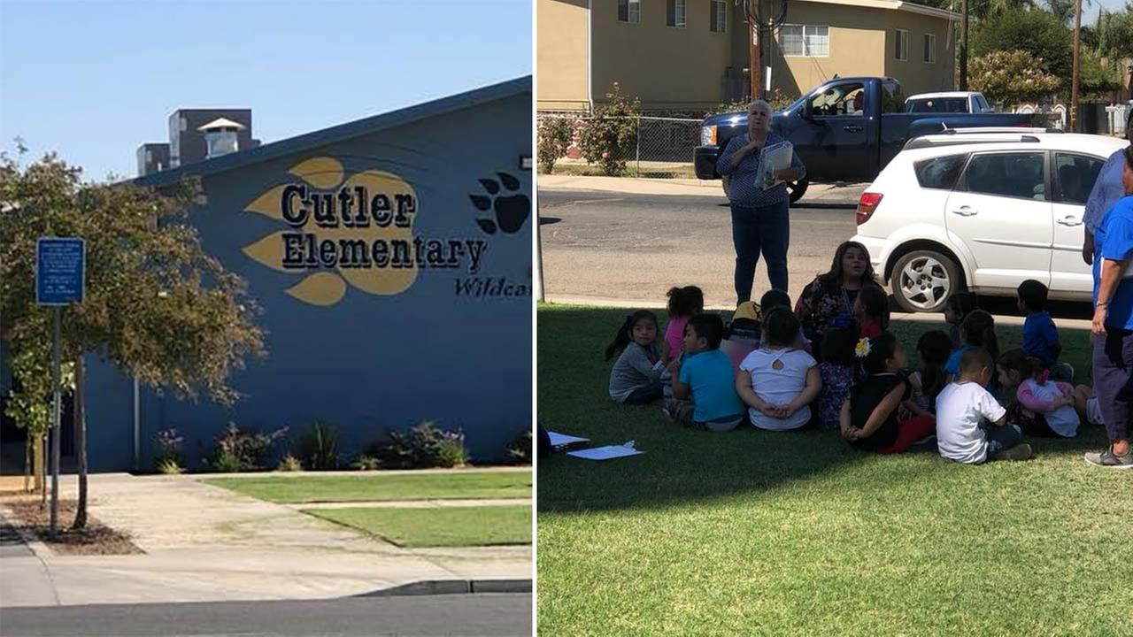 Students evacuated from Cutler Elementary School after construction crew accidentally cuts gas line