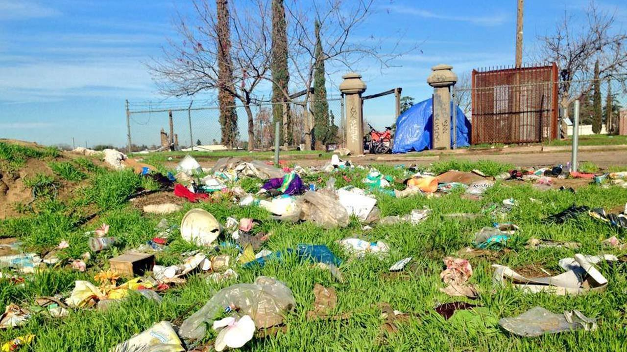 Cemetery trash
