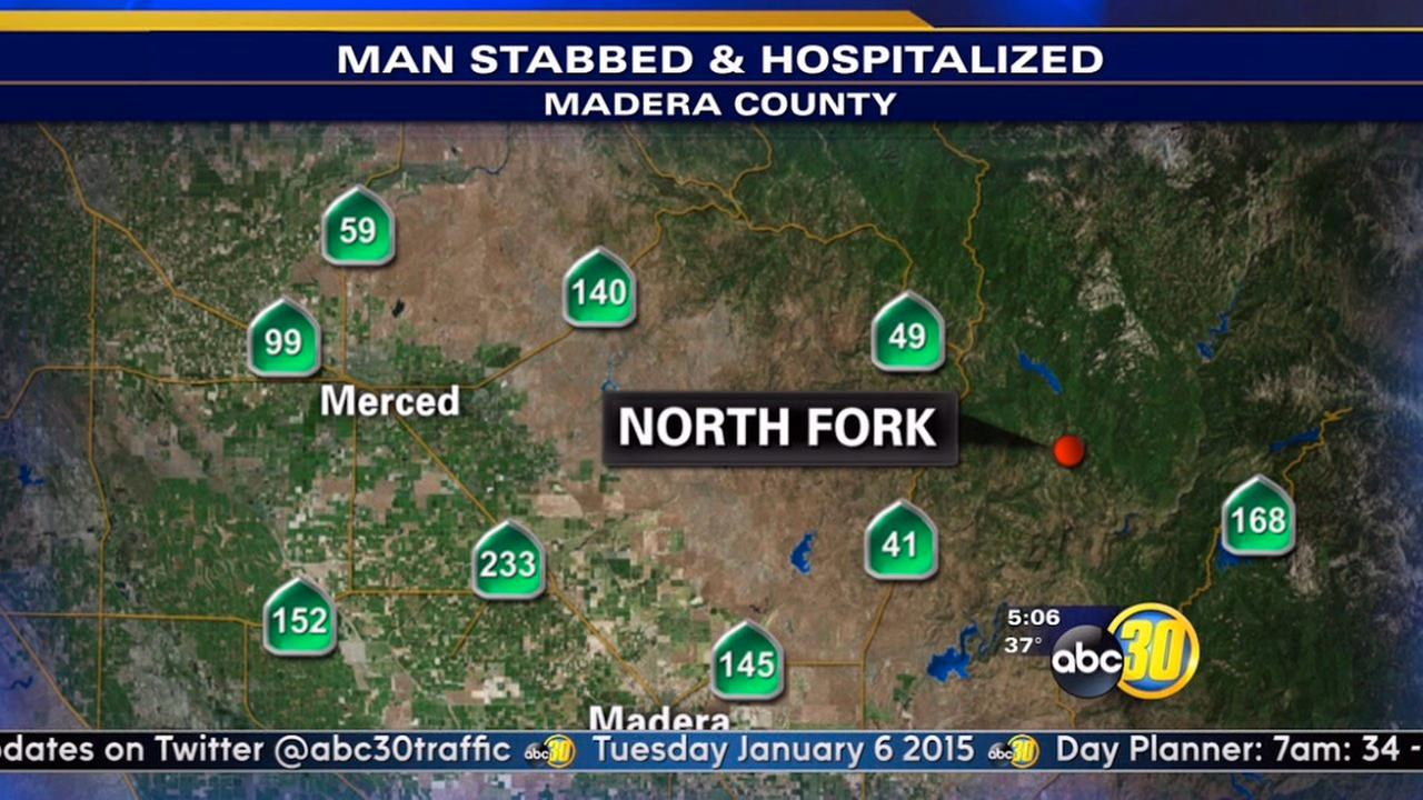 North Fork stabbing sends man to hospital
