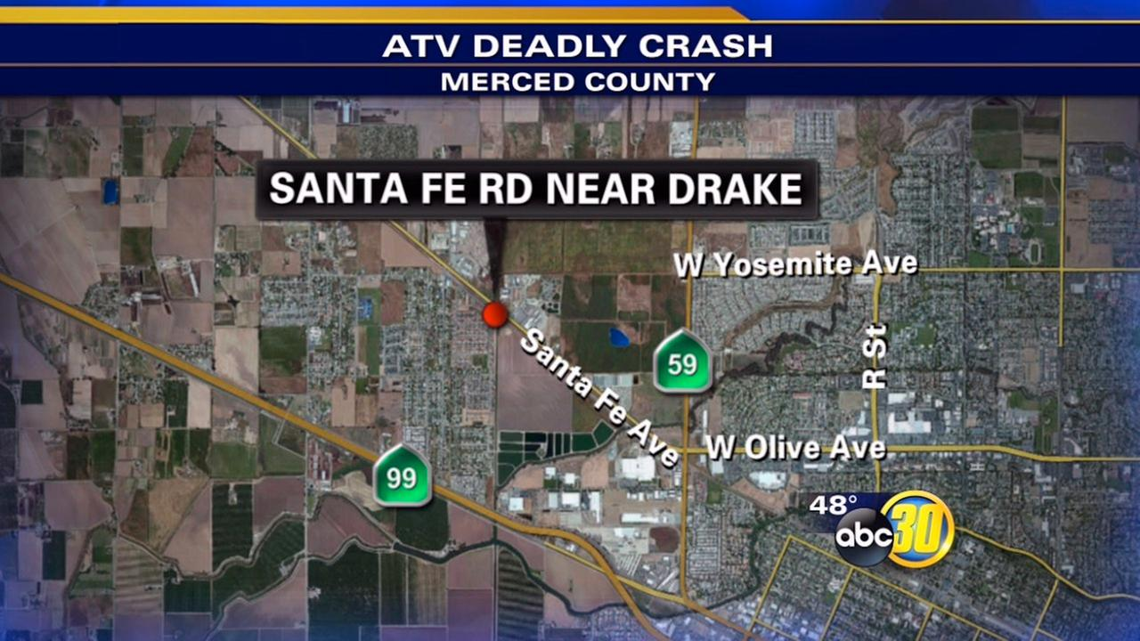 Man killed in ATV crash in Merced County